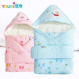 优奇新生儿用品抱被婴儿包被幼儿被子纯棉春秋宝宝包巾秋冬襁褓