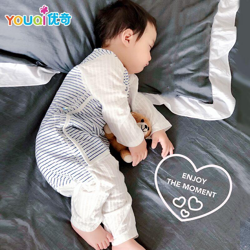 婴儿睡袋夏季薄款纯棉春秋四季儿童防踢被神器夏天宝宝空调房睡衣