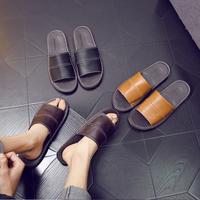 牛皮凉拖鞋家用男士室内防滑软底居家家居真皮舒适防臭透气女夏季