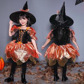 万圣节儿童服装女巫公主服饰幼儿园装扮衣服男女童魔法师cos道具