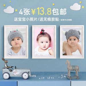 宝宝海报照片宝宝画报漂亮可爱男婴儿画像孕妇备孕胎教图片墙贴画