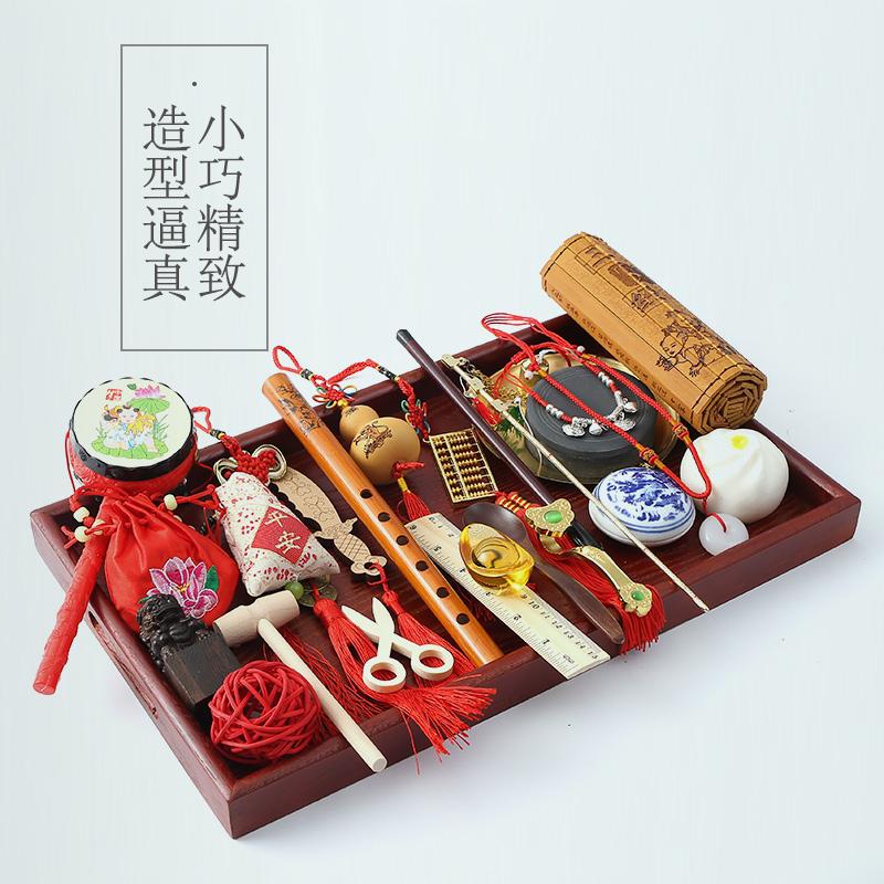 Ребенок улов неделю статьи полный год китайский стиль улов лот установите реквизит nubao ребенок игрушка годовалый день рождения подарок мужчина