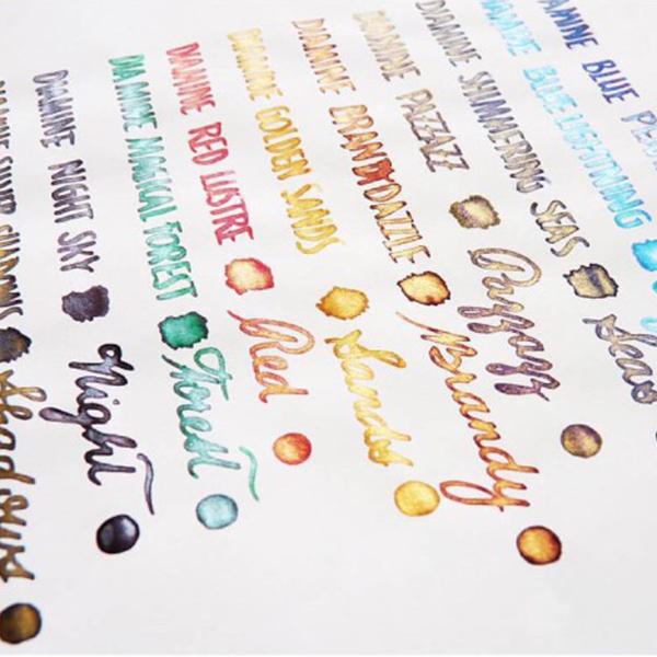 正品英國Diamine戴阿米靈光源泉金粉彩色鋼筆墨水不堵筆50ml彩墨