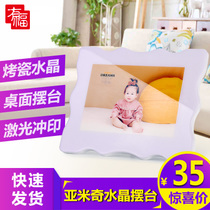 10-inch crystal photo frame swing table production creative photo swing table custom baby wedding photo album Swing table