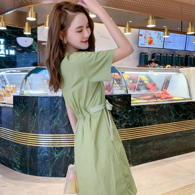 短袖小个子甜美连衣裙超仙收腰显瘦女学生韩版小清新裙夏新品上市