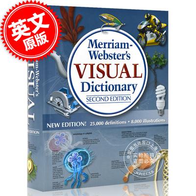 现货 英文原版 Merriam Webster's Visual Dictionary Second Edition 韦氏图解词典字典 图片词典 **版 升*版 New Edition