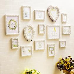 欧式照片墙装饰儿童房餐客厅洗照相片墙创意组合挂墙卧室相框墙上