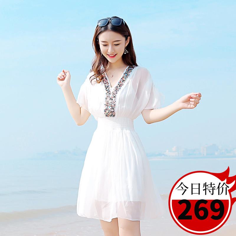 重磅仙女杭州连衣裙2019大牌沙滩裙满270元可用30元优惠券