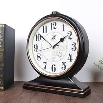 床头座钟台钟客厅时尚摆放石英台式钟表摆钟桌面家用坐钟时钟摆件