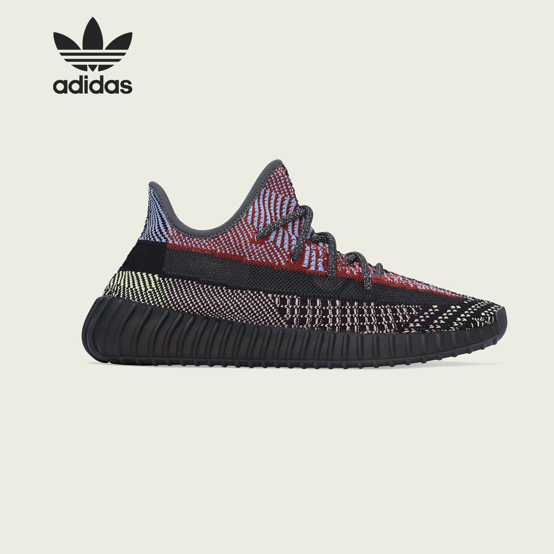 Adidas/阿迪達斯正品 YEEZY 350V2 Yecheil 椰子黑紅休閑鞋FW5190