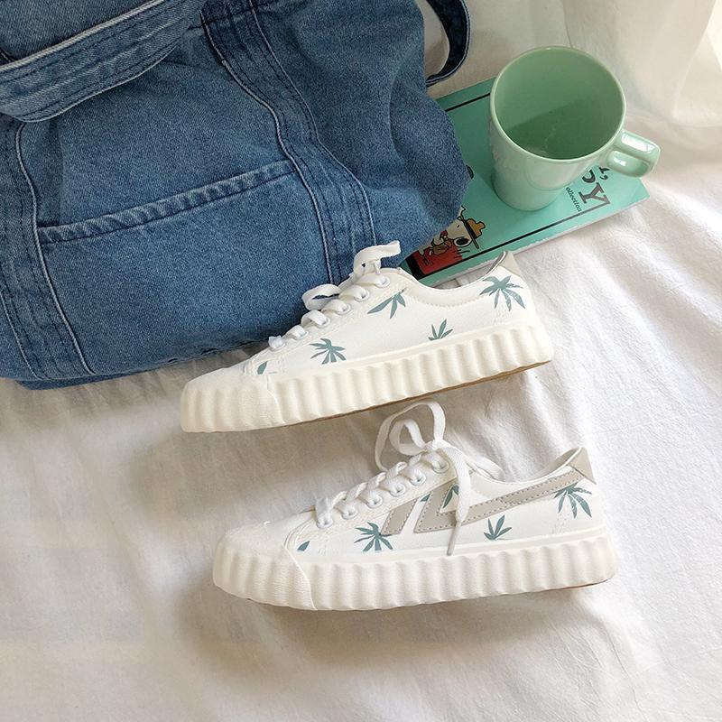 热销150件需要用券言大叔女学生韩版2019潮鞋帆布鞋