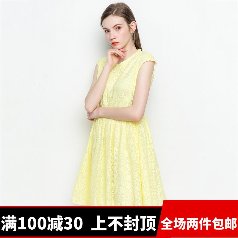 【满100减30】杭派轻熟女装 ZG0022 活力减龄 连衣裙 2018 夏