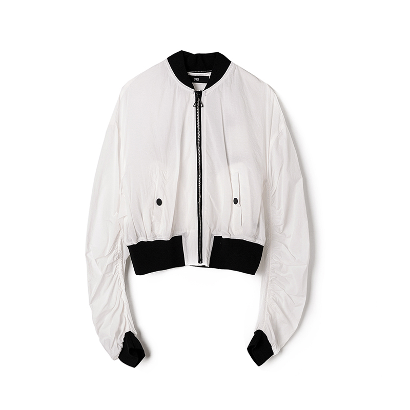 9魅高端 LU0K0002棒球领运动休闲外套舒适清爽减龄秋装女2018新款