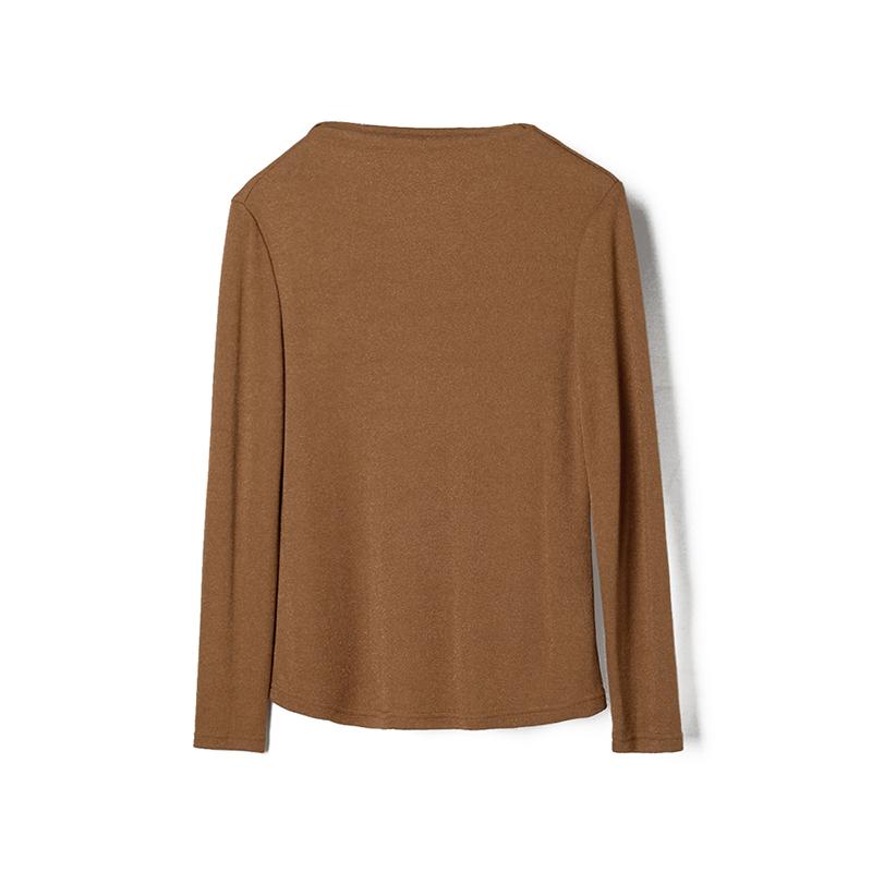 奥特莱斯专卖店女装 正品折扣品牌简约弹力修身基础款针织衫秋