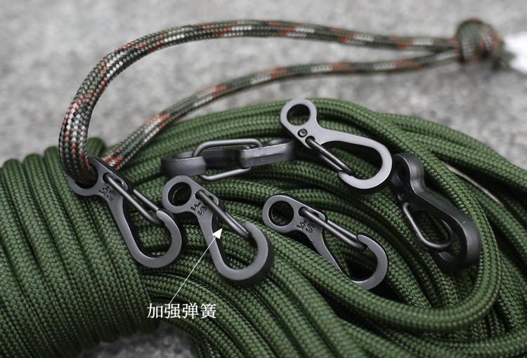 金属材质经典简洁迷你弹簧挂扣伞绳穿扣快挂钥匙扣钥匙环TC0002