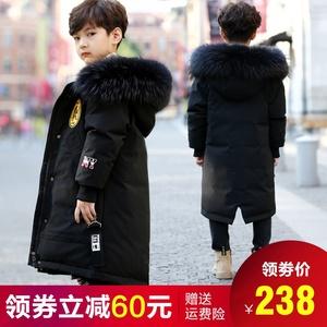 儿童羽绒服男童2019新款中长款男孩冬童装韩版洋气加厚中大童外套