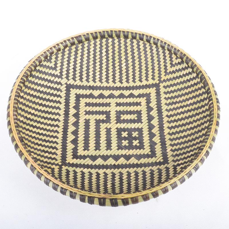 Бамбук компилировать совка 30см диаметр фукурокудзю счастливый специальная цена, очистка склада бамбук фрукты бамбук блюдо корзина может быть установлен украшения использование