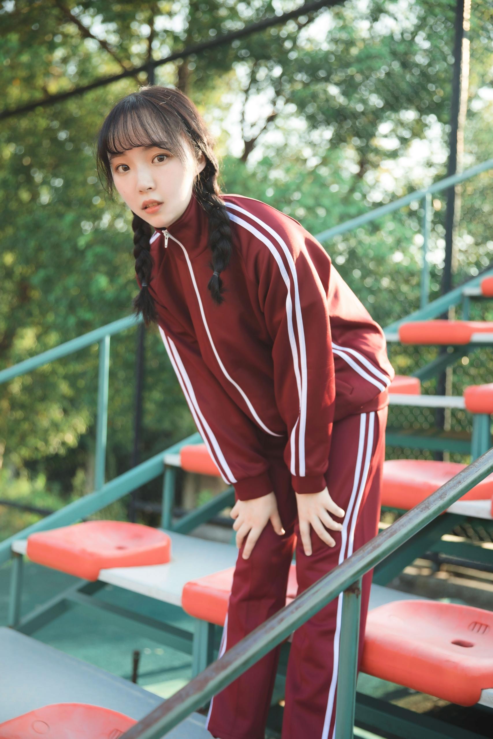 兔家日本学生运动服校园JK班服宽松AKB48红蓝绿长袖长裤秋冬套装