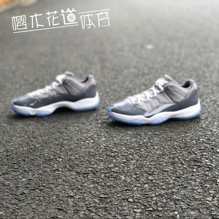 樱木 Air Jordan 11 Low Cool Grey AJ11 酷灰低帮 528895-003