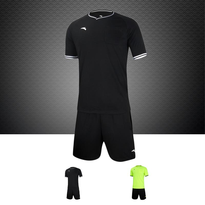 Оригинал Спортивный костюм ANTA Anta короткий рукав комплект мужской Профессиональный футбольный матч, оборудованный судьями верх Одежда брюки