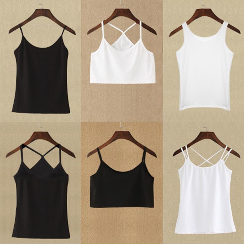 白色性感蕾丝小吊带背心女夏短款韩版打底衫外穿内搭百搭黑色上衣