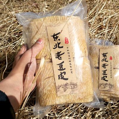东北老味豆皮500g*2袋干豆腐人造肉油豆皮干货腐竹皮素蛋白肉2斤