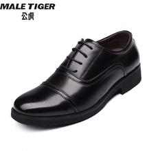 Male tiger men's shoes 07B sergeant's three joint leather shoes and plush system school captain's three joint leather shoes for men's army