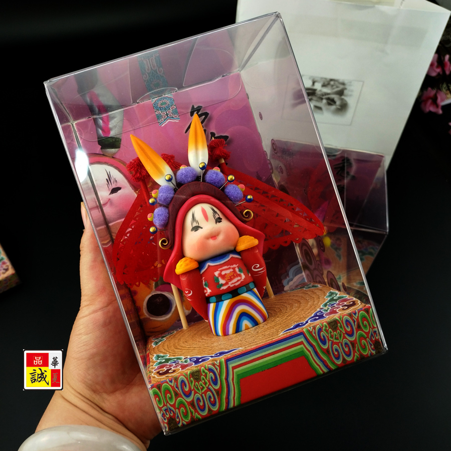 兔爷老北京泥塑特色中国风小礼物送老外 出国礼品 留学生纪念品