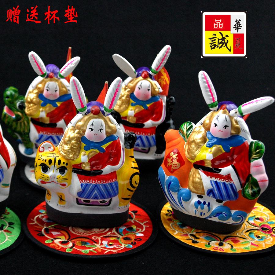 兔儿爷泥塑摆件北京旅游纪念品特色中国风小礼物送老外出国礼品