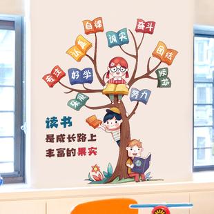 小学教室布置装饰创意班级文化墙墙贴纸墙面背景墙壁贴画壁纸自粘
