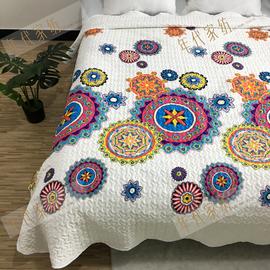 处理价 出口夹棉夏凉被床单多用可床垫沙发毯褥子床盖空调被包邮