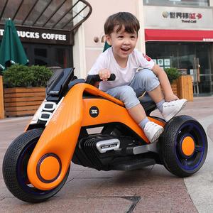 可坐大人儿童电动摩托车双人超大号男女孩童车双驱电瓶三轮车