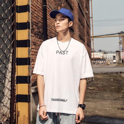 2019夏季新款大码男短袖男T恤日系潮牌印花纯棉T恤男TX-2022 P40