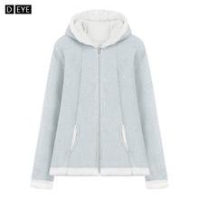 冬季保暖加厚卫衣珊瑚绒女外套