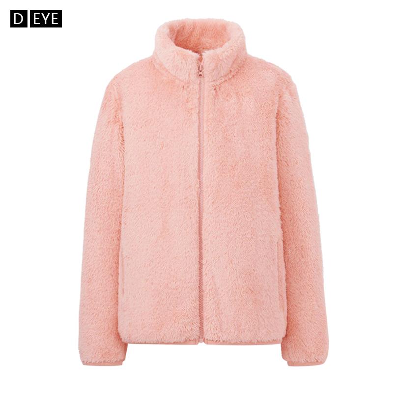 珊瑚绒卫衣女秋冬季摇粒绒抓绒上衣拉链开衫短款加绒加厚宽松外套