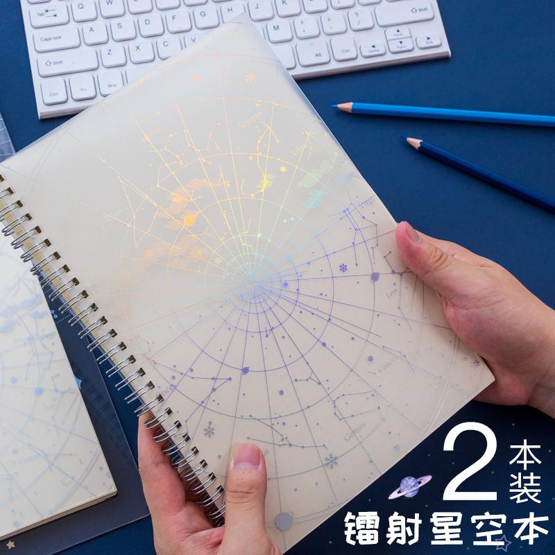11-03新券镭射星空笔记本子烫金b5纸记事本子