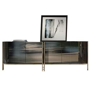 餐邊櫃輕奢風客廳入户櫃美式實木意式後現代多功能極簡玄關櫃鞋櫃