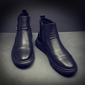 2020新款马丁靴子切尔西中帮冬棉鞋