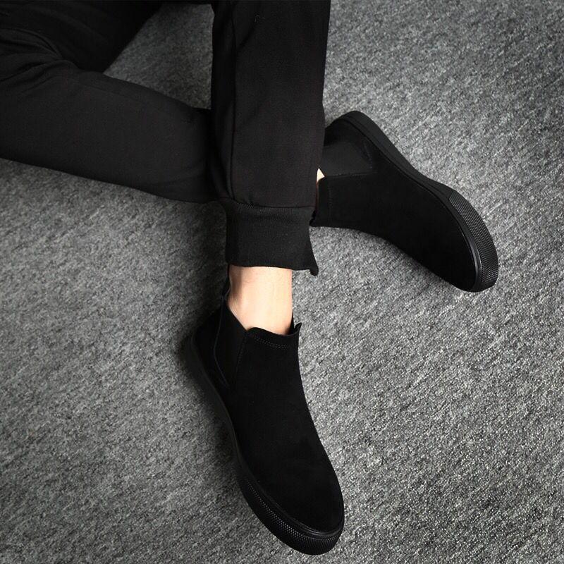 韩版休闲高帮皮鞋潮流马丁靴中帮男鞋鞋子百搭高邦男秋季冬二棉鞋