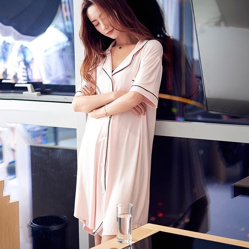 10月10日最新优惠夏季莫代尔睡裙韩版简约夏中长裙