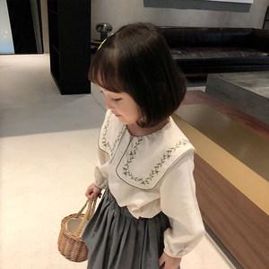 女童春秋款长袖2020新款洋气衬衫