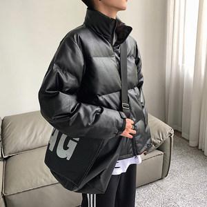 @方少男装冬季潮流pu男保暖棉服