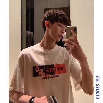 @方少男装夏季韩版潮牌动漫t恤