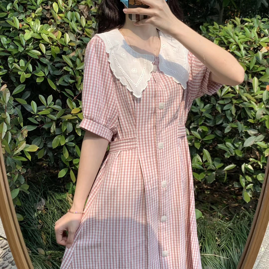 2020 new dresses in spring and summer, very beautiful stripes, Korean dresses, women's casual shirts and skirts