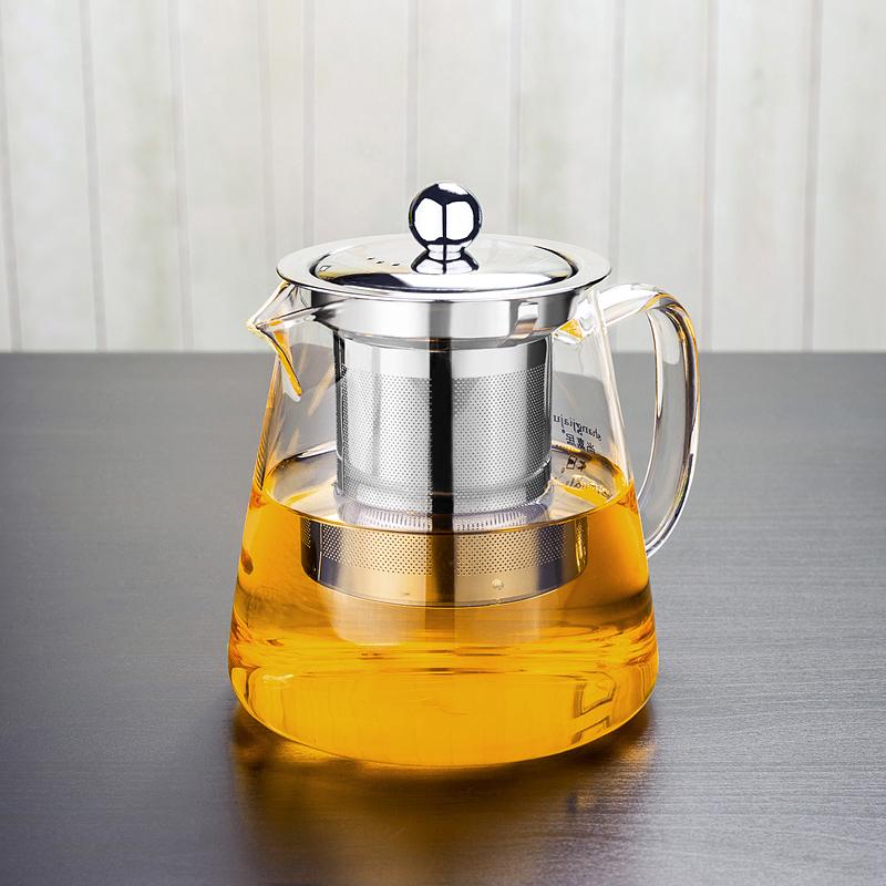 透明玻璃茶壺套裝耐熱玻璃茶具耐高溫不鏽鋼過濾泡茶壺花茶壺加厚