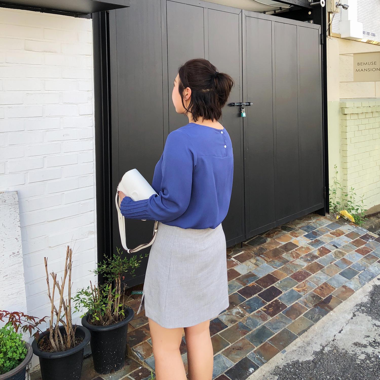 ALIN定制大码2018秋季新款雪纺上衣宽松大码女装胖MM遮肚子衬衫