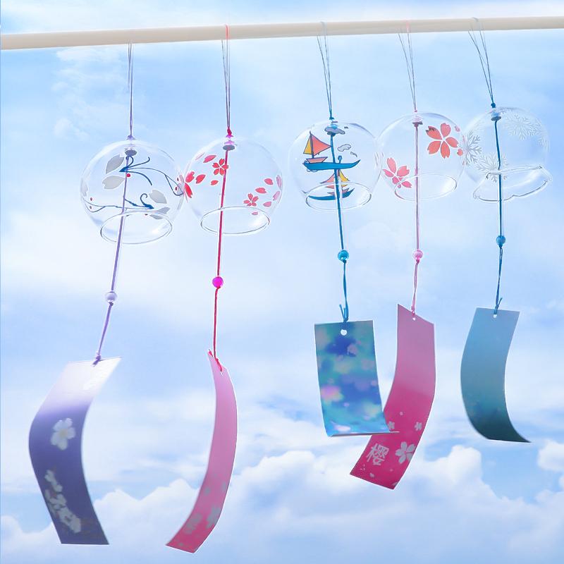 风铃挂饰创意女生卧室房间小清新日式樱花铃铛挂件生日礼物门装饰