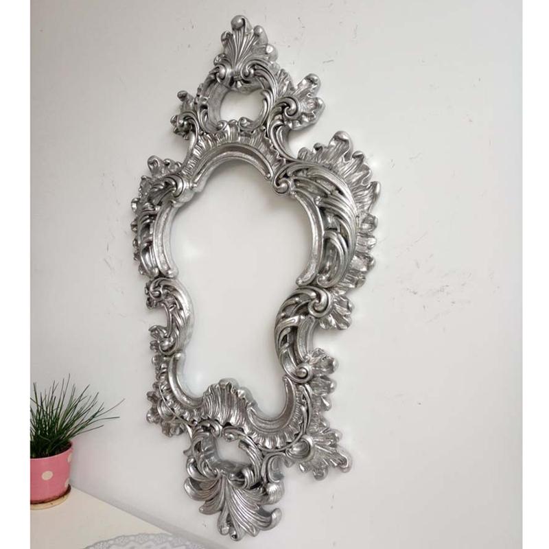 复古金色欧式浴室镜防水打孔化妆镜玄关太阳造型装饰镜壁挂镜子