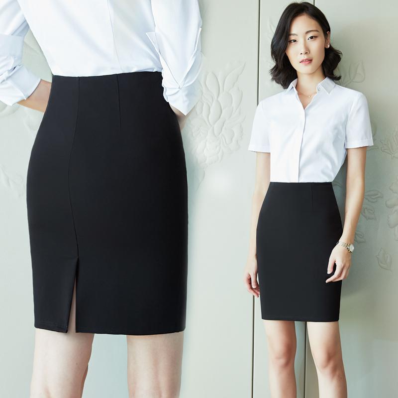 11月10日最新优惠职业黑色工作一步西裙春秋包臀裙子