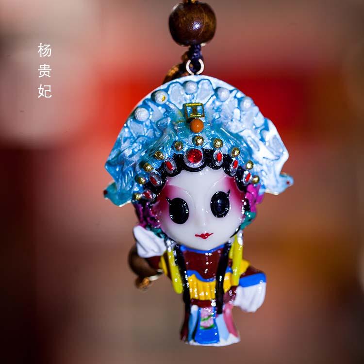 中国风特色小礼品戏博士戏曲人物脸谱钥匙扣送老外手工艺出国礼品